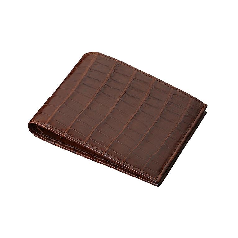 Бумажник из натуральной кожи крокодила