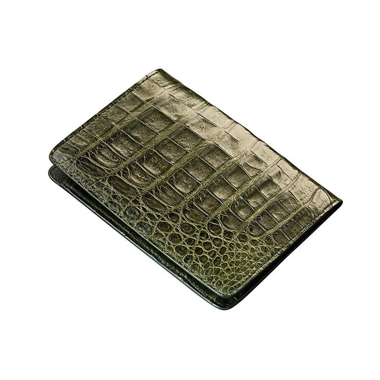 Чехол для паспорта из натуральной кожи крокодила