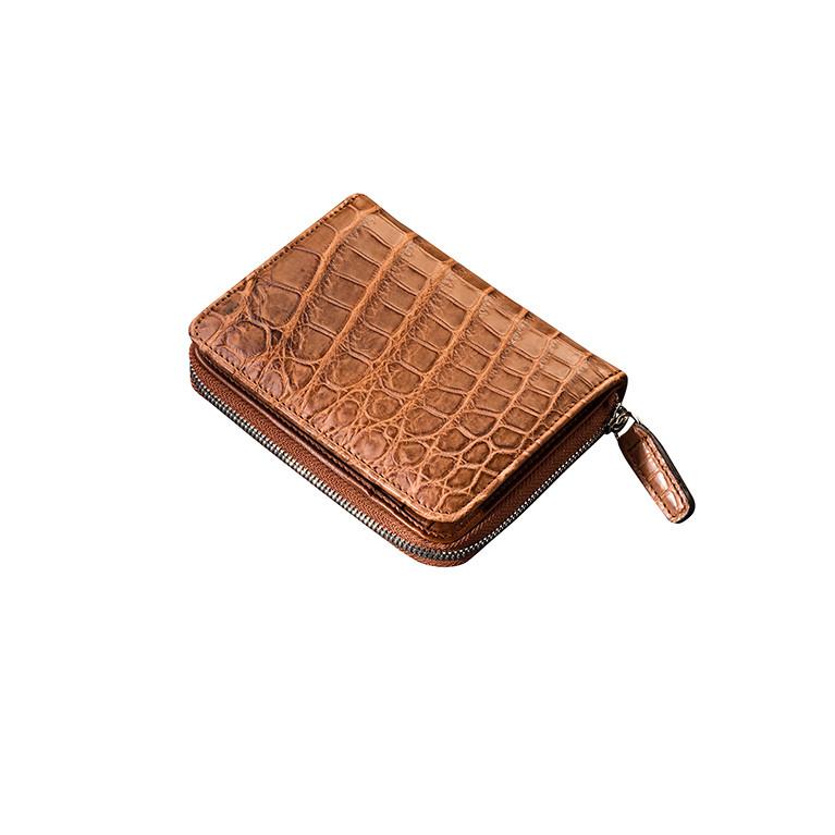 Женский кошелек из натуральной кожи крокодила