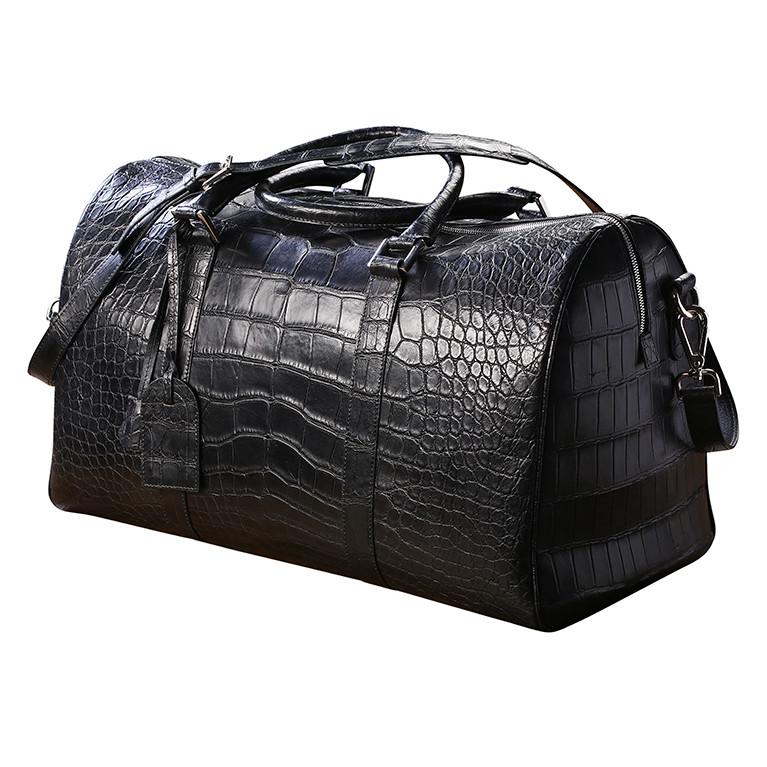 Мужская дорожная сумка из натуральной кожи аллигатора